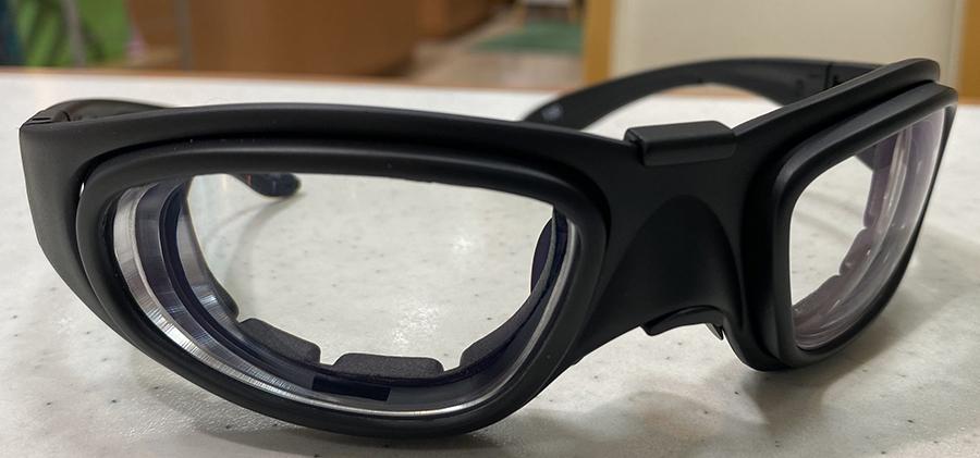 サバイバルゲーム時の安全な度付きメガネを制作しました。