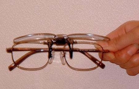 老眼鏡としての跳ね上げメガネ
