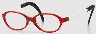 曲げても折れにくい幼児眼鏡枠です。