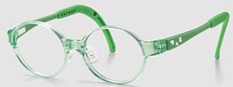 キッズメガネの特徴として、このフレームは鼻の高さが調整できます。