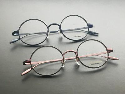 ハンドメイドでの製作で仕上げた丸メガネです。