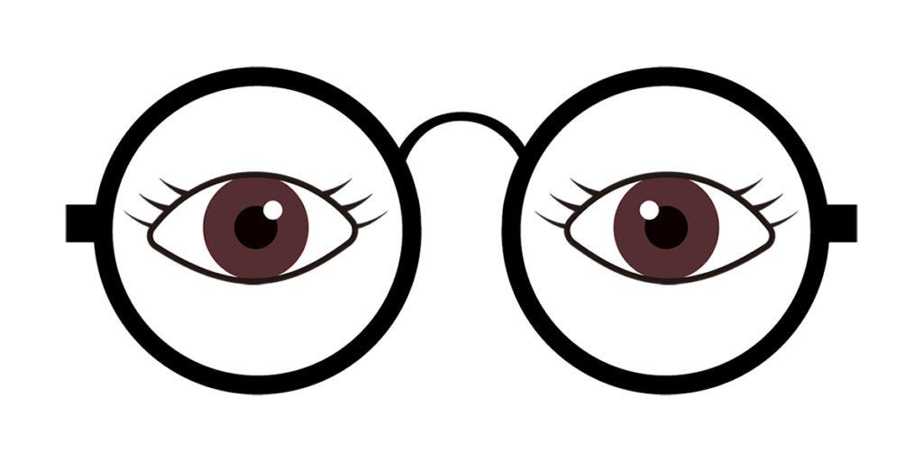 目(瞳孔)がほぼ中央