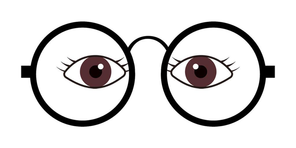 目(瞳孔)が内寄り