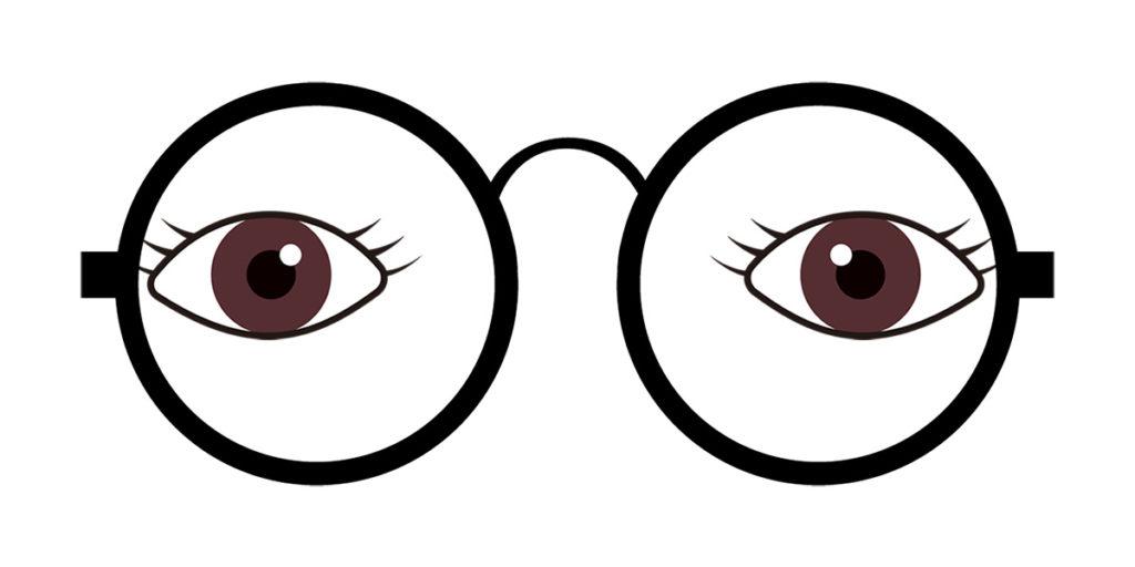 目(瞳孔)が外寄り