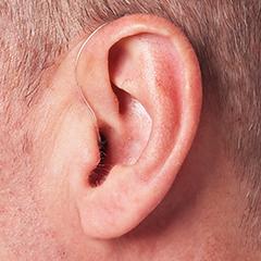目立たない補聴器