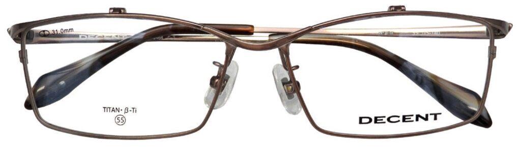 跳ね上げ眼鏡をフリップアップメガネとも言ってもいいデザインに仕上がりました。