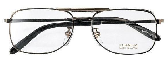 ツーブリッジタイプの跳ね上げ眼鏡フレーム、従来型のビジネス風のデザインです。