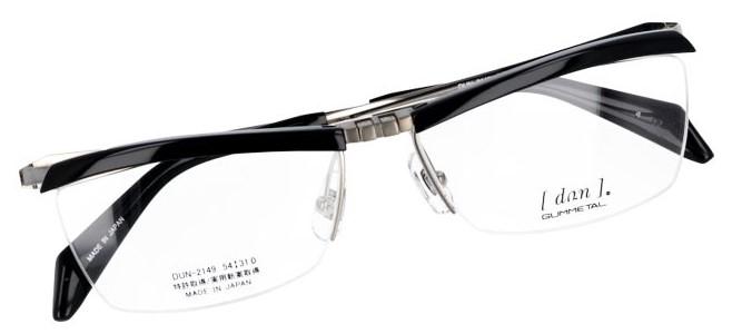 ブロータイプのデザインを取り入れた跳ね上げ式眼鏡フレームです。