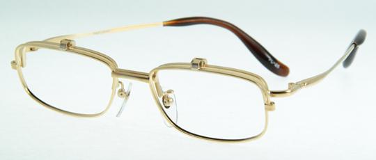 パリジャンデザインのワンブリッジタイプで、オーソドックス型なので飽きは気にくい跳ね上げ眼鏡枠です。