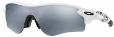 一体型度付きサングラスOAKLEYレーダーロック パス|フレームカラー:マットホワイト/レンズカラー:スレートイリジュウム