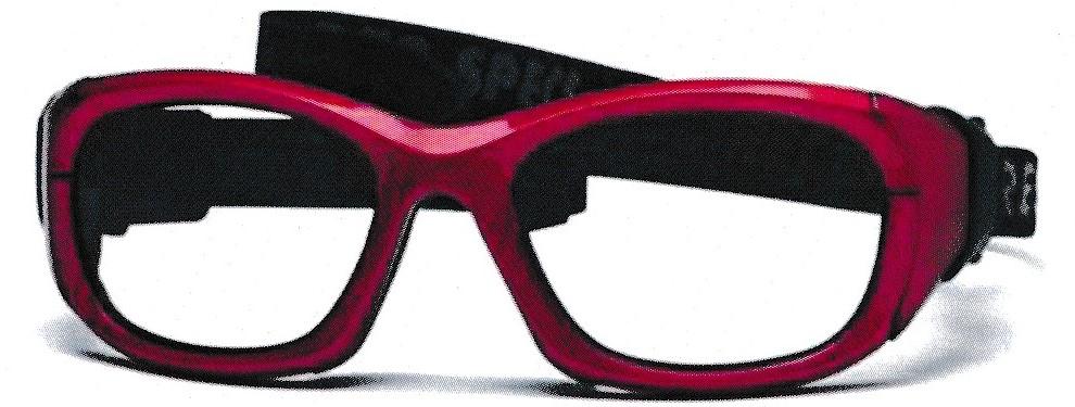 視力が悪い方のためのサッカー用メガネ。