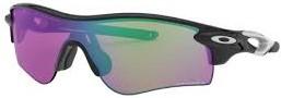 度入りスポーツサングラス一体型のおすすめオークリーサングラス(レーダーロックパス)|フレームカラー:ポーリッシュドブラック/レンズカラー:プリズムガオルフ