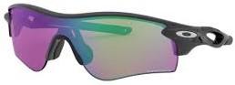 かっこいいスポーツサングラス度付きハイカーブ型のおすすめオークリーサングラス(レーダーロックパス)|フレームカラー:マットブラック/レンズカラー:プリズムゴルフ