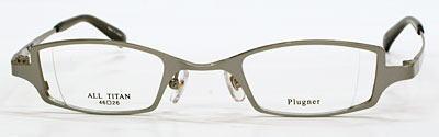 目が小さくなることを少なくした強度近視眼鏡枠。