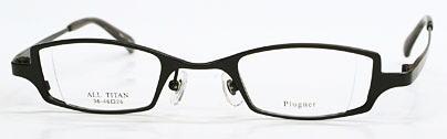 ウズが目立たない強度近視眼鏡枠。