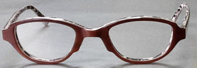アートな強度近視眼鏡枠。