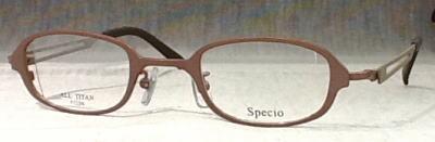 落ち着いた強度近視眼鏡枠になりました。