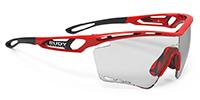 女性用スポーツメガネ度入りTRALYX XL トラリクスXLのご紹介|フレームカラー:ファイアレッドグロス/レンズカラー:インパクトX®2 調光ブラックレンズ