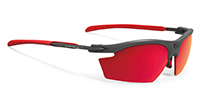 顔の側面から光が入りにくいスポーツサングラス度入りのご提案RYDONルディ|フレームカラー:グラファイト/レンズカラー:マルチレーザーレッドPolar 3FX HDR