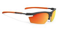 度入りスポーツサングラスの特殊加工が出来るルディライドン|フレームカラー:グラファイト/レンズカラー:マルチレーザーオレンジPolar 3FX HDR