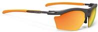 ハイキングどきのスポーツサングラス度入りにお奨めRUDY RYDON SLIM|フレームカラー:グラファイト/レンズカラー:マルチレーザーオレンジ