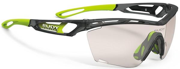 ズレにくい度付きスポーツサングラスTRALYX SLIM トラリクス スリムRUDY|フレームカラー:アイスグラファイトマット/レンズカラー:インパクトX®2調光レーザーブラウンレンズがおすすめ。