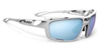 度付カーブサングラスに最適なルディシントリクス|フレームカラー:ホワイトカーボニウム/レンズカラー:マルチレーザーアイス
