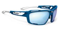 スポーツに合わせて自分の思い通りの度入りサングラスを作るためのルディSINTRYX|フレームカラー:ブルーメタルマット/マルチレーザーアイス