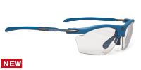 顔を包むようにカーブしている度付きスポーツサングラスのおすすめは、ルディ ライドンスリム|フレームカラー:パシフィックブルーマッット/レンズカラー:調光ブラックインパクトX®2