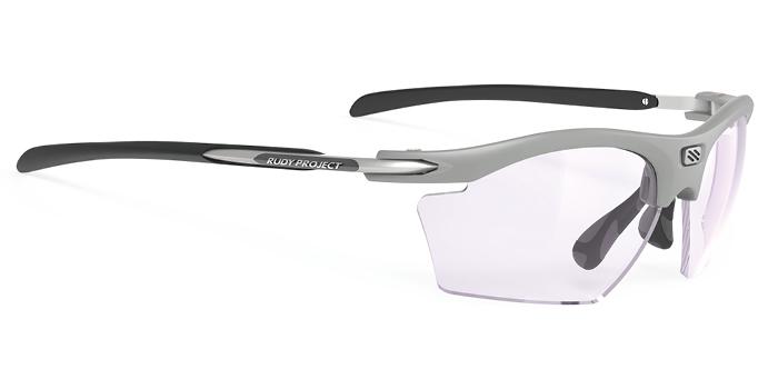 顔の横からの光をカットできる度付きスポーツサングラスRUDY ライドンスリム|フレームカラー:ライトグレイマット/レンズカラー:ライトグレイマットインパクトX® 2