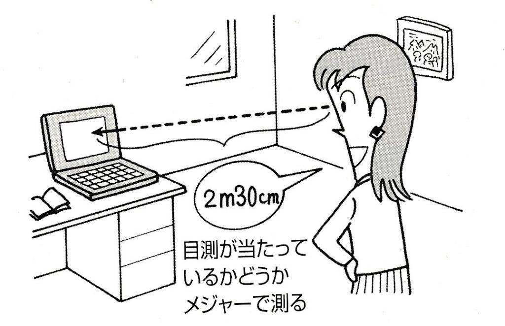 深視力テスト合格のためのトレーニング。