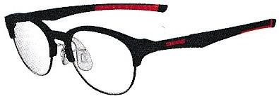 普段使いメガネと野球どきメガネを兼用で使用できるフレームです。