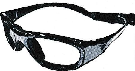 メガネタイプのスポーツメガネ。