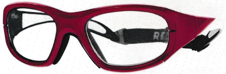 女性用のサッカーどきの保護眼鏡のご紹介。