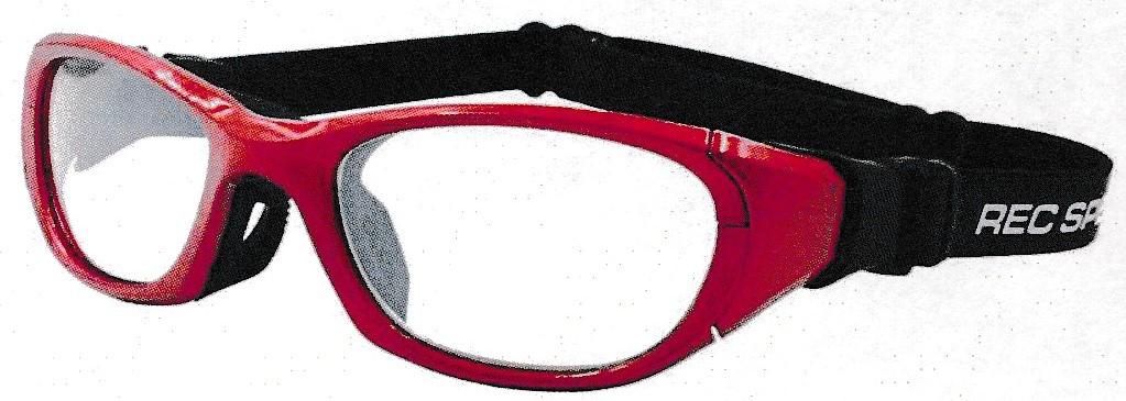 装用どきにまつ毛が付きにくくなったデザインのサッカー用メガネ。