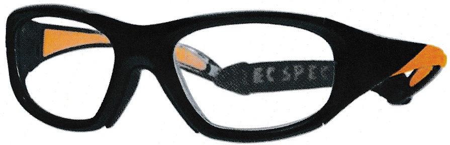 サッカー時の保護眼鏡ではなく、あらゆるスポーツ時に装用できるフレームです。