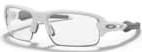 OAKLEYオークリー「フラック」 XS 子供用|フレームカラー:パァリィシュトゥホワイトPolished White/レンズカラー:Clearクリア