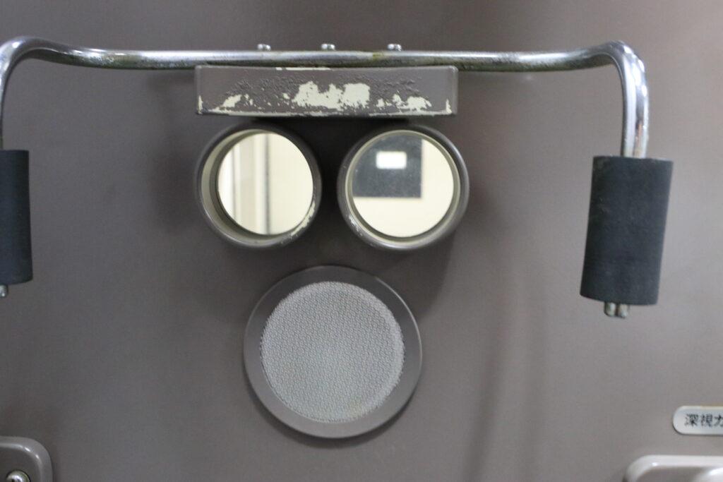 深視力検査機の検査状況
