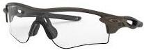 スポーツ用のサングラス度付きはオークリーのレーダーロックパスが人気|フレームカラー:オリーブ/レンズカラー:調光イリジュウムフォトクローム