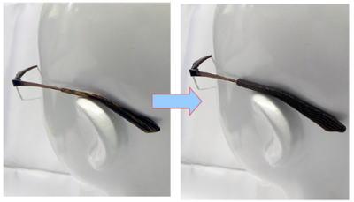 卓球時の眼鏡ズリ防止ゴム