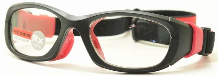 ゴーグルタイプの度入りサッカーメガネ。