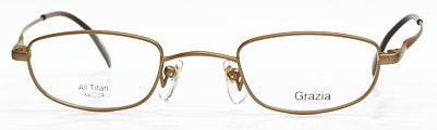 レンズのウズが気にならない強度近視メガネ枠グラッツィア。
