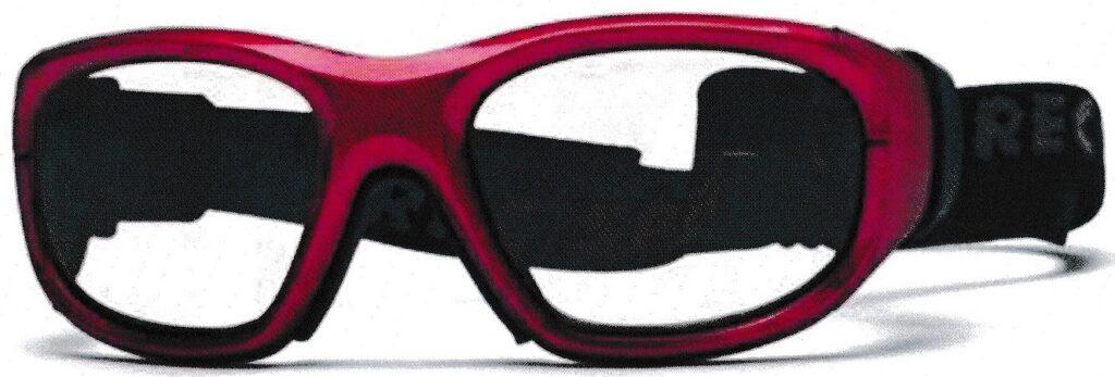 女性用のスポーツ時の保護メガネ
