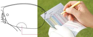 ゴルフ時のスコアーカードが見づらいを解消