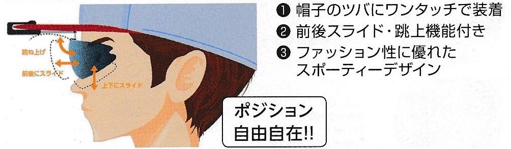 帽子取付サングラス