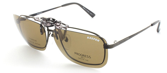 大きいメガネの跳ね上げサングラス