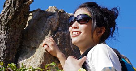 登山時に快適なレディース用偏光サングラス