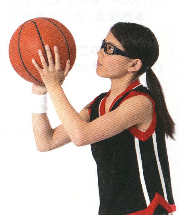 バスケットボールの眼の保護