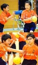 ハンドボールどきの子どもメガネ