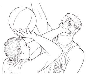 バスケットボールどきの眼の危険
